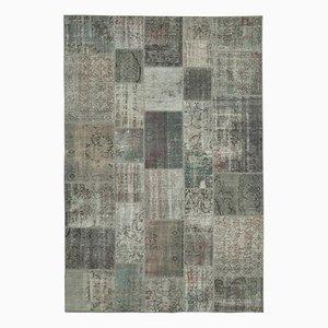 Vintage Grey Patchwork Rug