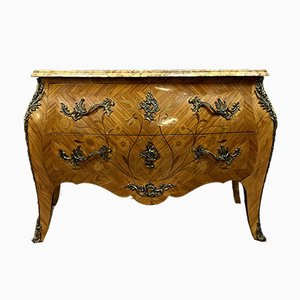 Antique Chest of Drawers with Wooden Inlay