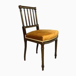 Gewellte Stühle aus Mahagoni & Messing, 2er Set