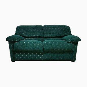 Italian Green Striped Velvet Sofa from Pol 74, 1990s