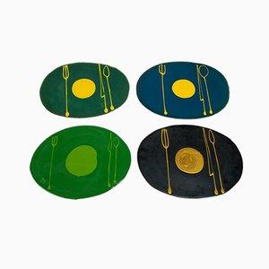 Set de Table Plastique avec Poisson par Gaetano Pesce, Set de 4