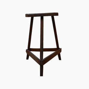 Antique English Wooden Cutler's Stool or Side Table