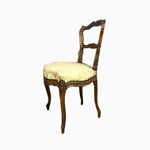 Walnuss Esszimmerstühle, 1850er, 2er Set