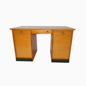 Mid-Century Holz Roller Schreibtisch, 1960er
