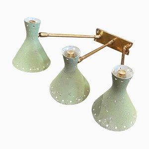 Italienische Mid-Century Wandlampe in der Form von Stilnovo, 1950er
