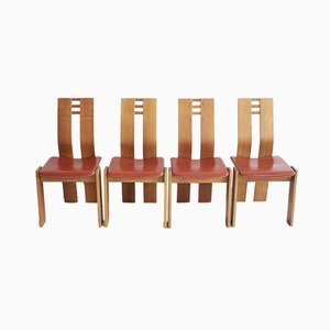 Marple Wood Dining Chairs, 1950s, Set of 4