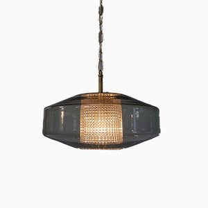 Mid-Century Ceiling Lamp by Carl Fagerlund for Orrefors, Sweden