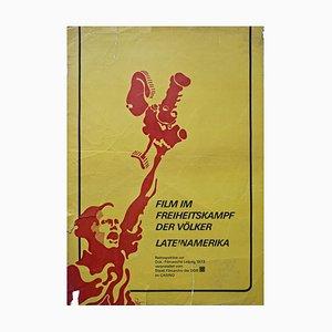 Plakat Film zum Freiheitskampf der Völker Lateinamerikas, Leipzig, 1972