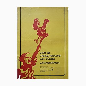 Poster Movie in the Freedom Struggle of the Peoples of Latin America, Leipzig, 1972