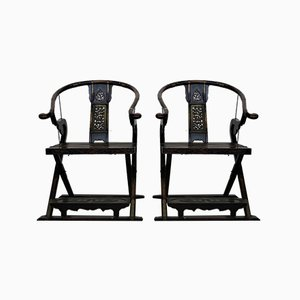 Folding Thrones, 1920s, Set of 2
