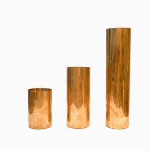 Mid-Century Brass Candlesticks, Sweden, Set of 3