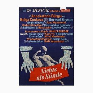 Vintage Filmposter Nichts als Sünde, Defa, 1965