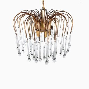 Large Murano Glass Chandelier from Venini, Italy, 1960s