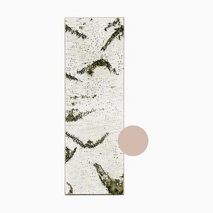 Large Edge Beige Birch Wall Panel with Moss and Lichen from Moya