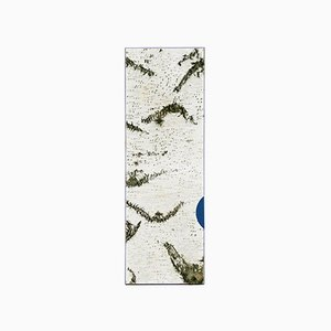 Large Edge Blue Birch Wall Panel with Moss and Lichen from Moya