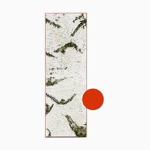Large Edge Red Birch Wall Panel with Moss and Lichen from Moya