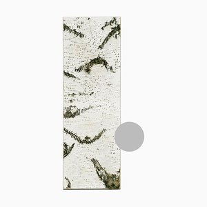 Large Edge Light Grey Birch Wall Panel with Moss and Lichen from Moya