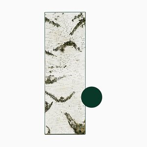 Large Edge Green Birch Wall Panel with Moss and Lichen from Moya