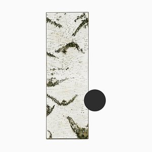 Large Edge Dark Grey Birch Wall Panel with Moss and Lichen from Moya