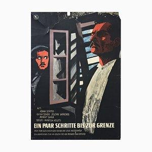 Vintage Filmplakat, Ein Paar Schritte bis zur Grenze, Ungarischer Film, in einem Rental Progress Film, Berlin, 1960