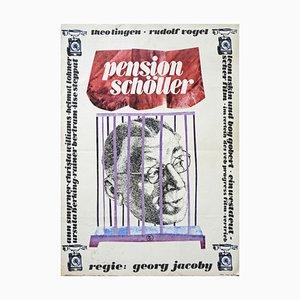 Vintage Filmplakat Schoeller, Grafisches Grüttner, Defa, Berlin, 1964