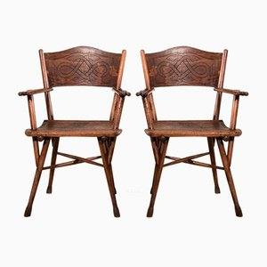 Antique Model 110 Lounge Chairs by Michael Thonet for Thonet, Set of 2