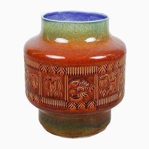 Großer Vintage Pflanzenständer aus Keramik mit Sternzeichen, 1970er