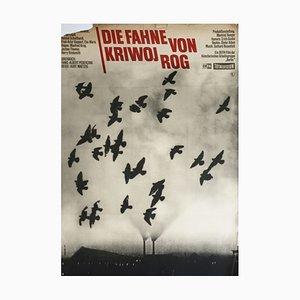 Vintage Filmplakate Flagge von Krivoy Rog, Defa Film Starring Manfred Krug, Erwin Geschonneck Etc. Design Wessler, 1967