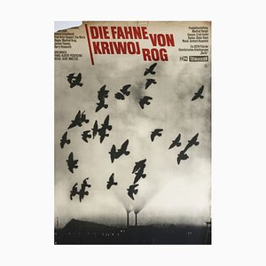 Vintage Movie Posters Flag of Krivoy Rog, Defa Film Starring Manfred Krug, Erwin Geschonneck Etc. Design Wessler, 1967