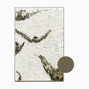 Braune Birkenholz Wandlampe in schmaler Randfarbe von Moya