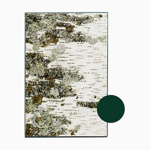Small Edge Green Birch Wall Panel with Moss and Lichen from Moya