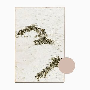 Small Edge Beige Birch Wall Panel with Moss and Lichen from Moya