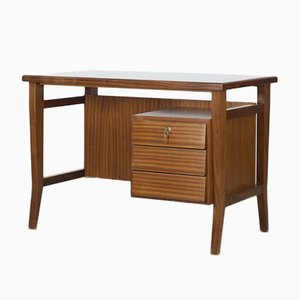 Mid-Century Mahogany Desk with Formica Countertop by Gio Ponti for Schirolli