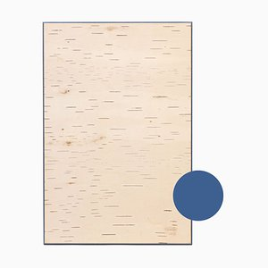 Small Edge Blue Birch Wall Panel from Moya