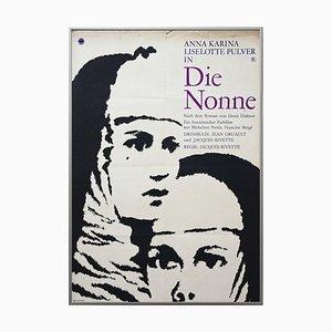 Vintage the Nuns Movie Poster, VEB Progress, 1969