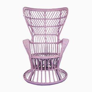 Sessel aus Korbgeflecht von Lio Carminati, 1950er