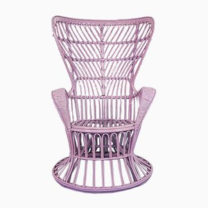 Wicker Lounge Chair by Lio Carminati, 1950s
