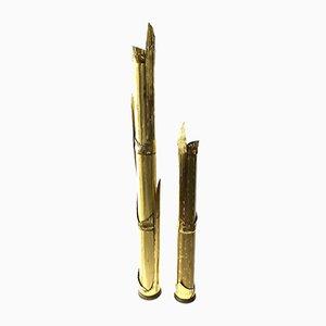 Lampadaires Canna di Bambù Vintage en Bambou par Tommaso Barbi pour G & G Studio e Disegno, Set de 2