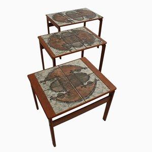 Danish Teak Nesting Tables by Ox-Art for Trioh, 1976