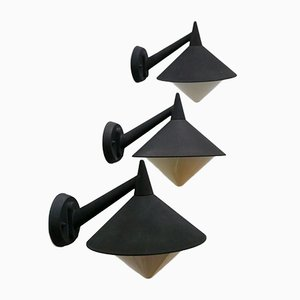 Outdoor Sconces, 1980s, Set of 3
