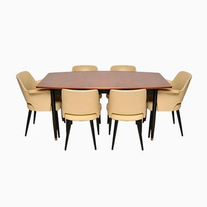 Dining Table & Chairs Set by Robin Day for Hille, 1950s, Set of 7