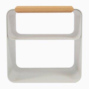 Kleiner lackierter Nachttisch mit Platte aus Eiche von AccardiBuccheri