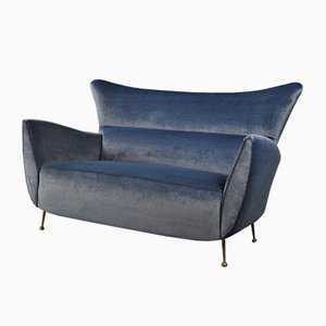 Sofa with Brass Legs, 1950s