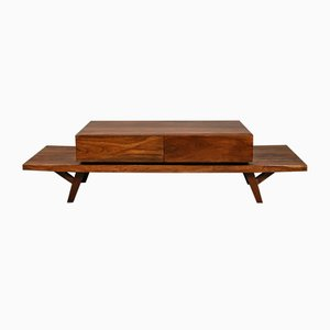 Coffee Table in Trembesi Suar Wood, 1970s