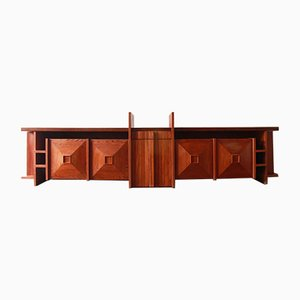 Vintage Large Rosewood Sideboard by Giuliano Giuliani, CMG, Italy, 1970s