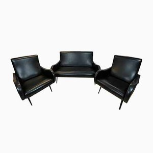 Sofa & Chairs Set by Marco Zanuso for Arflex, 1960s, Set of 3
