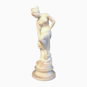 Escultura de Venus de alabastro italiana, siglo XIX