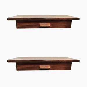 Mid-Century Floating Teak Nightstands by Poul Volther, Set of 2