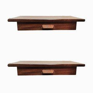 Tables de Chevet Mid-Century en Teck Flottant par Poul Volther, Set de 2