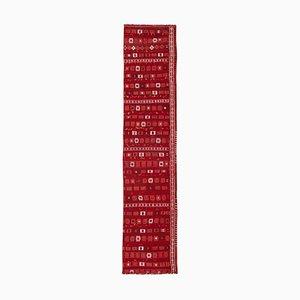 Vintage Turkish Red Kilim Runner Rug, 1970s
